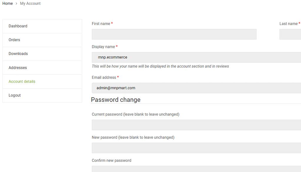 User Panel
